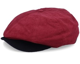 Brood Cord Maroon/Brown Snap Cap - Brixton