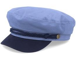 Fiddler Slate Blue/Navy Flat Cap - Brixton