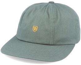 B-Shield III Dad Cap Cypress Green/Gold Adjustable - Brixton