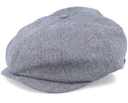 Brood LW Grey/Black Snap Flat Cap - Brixton