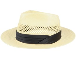 Goodman Fedora Tan Straw Hat - Brixton