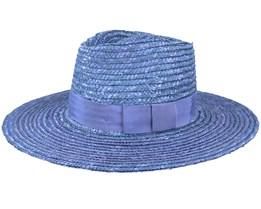 Joanna Casa Blanca Blue Straw Hat - Brixton