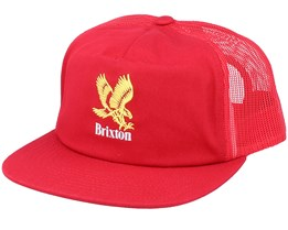 Descent Mp Mesh Cap Sunrise Red Snapback - Brixton
