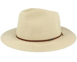 Wesley Straw Packable Tan Fedora - Brixton