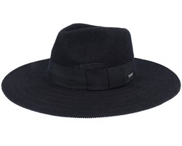 Joanna Knit Packable Hat Black Fedora - Brixton