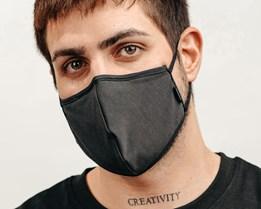 Antimicrobial Black Face Mask - Brixton