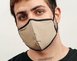 Antimicrobial Khaki Face Mask - Brixton