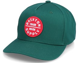 Hatstore Exclusive x Oath Dark Green Curved Snapback - Brixton