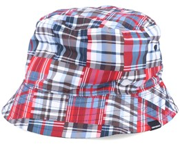 Reversible Bucket Patch Plaid/Rose Maroon Bucket - Converse