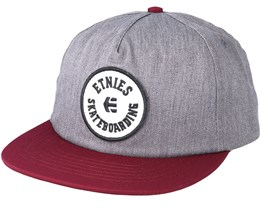 Tour Grey/Burgundy Snapback - Etnies