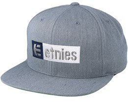 Corp Box Mix Heather Grey Snapback - Etnies