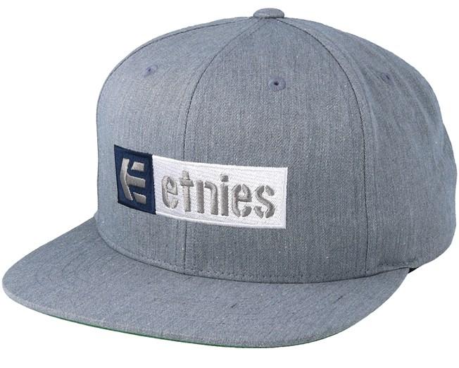buy online f6a9e 544d5 Corp Box Mix Heather Grey Snapback - Etnies