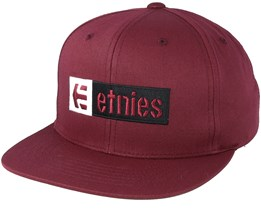 Corp Box Mix Burgundy Snapback - Etnies