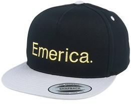 Pure Black/Silver Snapback - Emerica