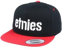 Corp Black/Red Snapback - Etnies