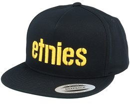 Corp Black/Yellow Snapback - Etnies