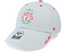 Liverpool FC Ice Clean Up Grey Dad Cap - 47 Brand
