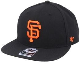 San Francisco Giants Captain No Shot Black/Orange Snapback - 47 Brand