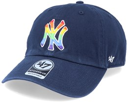 New York Yankees Pride Clean Up Navy/Rainbow Adjustable - 47 Brand