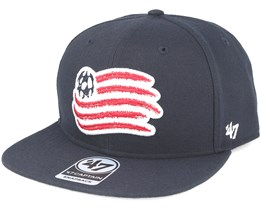 New England Revolution Sure Shot Captain Navy Snapback - 47 Brand