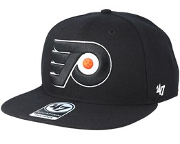 80eb10a2242e6 Philadelphia Flyers Sure Shot Black Snapback - 47 Brand