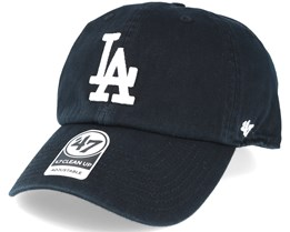 Los Angeles Dodgers Mlb `47 Clean Up Black Adjustable - 47 Brand 2b7aa5c06