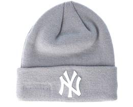 New York Yankees Basic Knit Gray Cuff - New Era