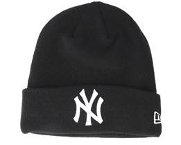 New York Yankees Basic Knit Black/White Cuff - New Era
