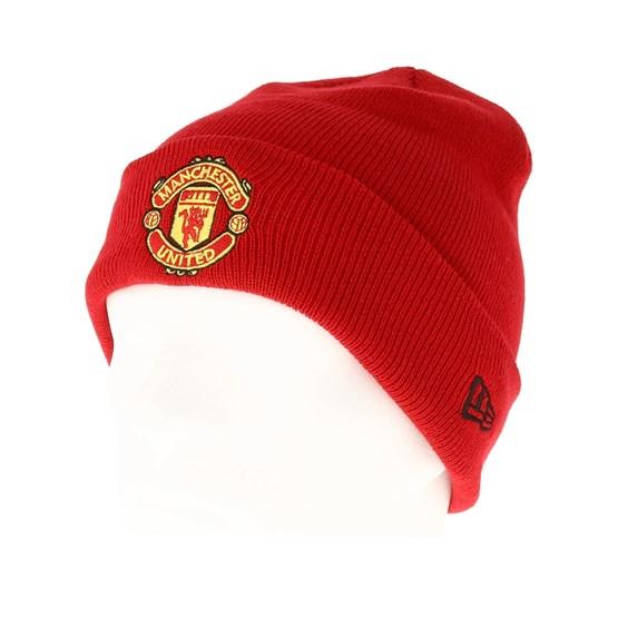 Manchester United Knit Scarlet Cuff - New Era beanies - Hatstoreworld.com d22dafe650