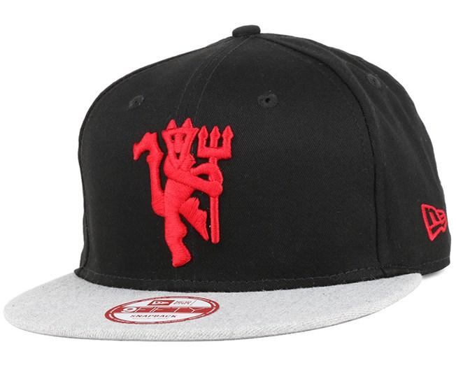 new product bf85c dbabe Manchester United Heather Vize Black 9Fifty Snapback - New Era