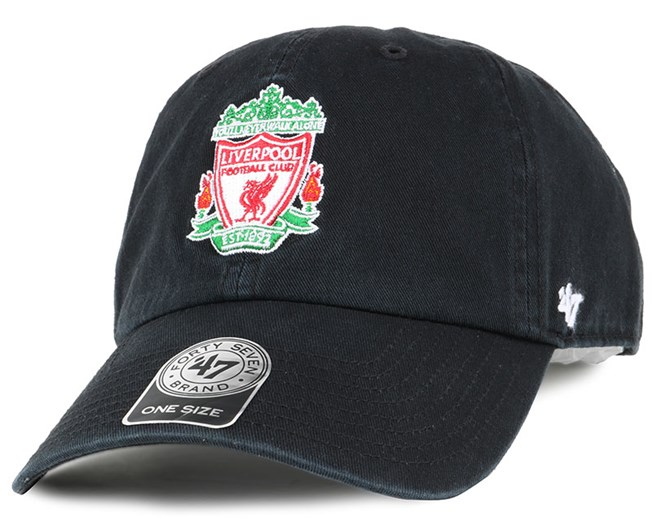 27a47868acd Liverpool FC Crest Clean Up Black Adjustable - 47 Brand cap ...