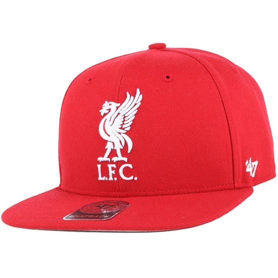 5f3382cac Liverpool FC No Shot Captain Red Snapback - 47 Brand