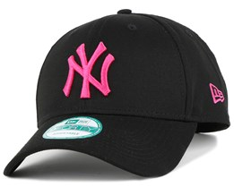 NY Yankees Black/Pink 9Forty Adjustable - New Era