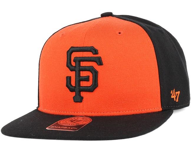 a3e824077 SF Giants Sure Shot Accent Black Snapback - 47 Brand cap - Hatstore ...