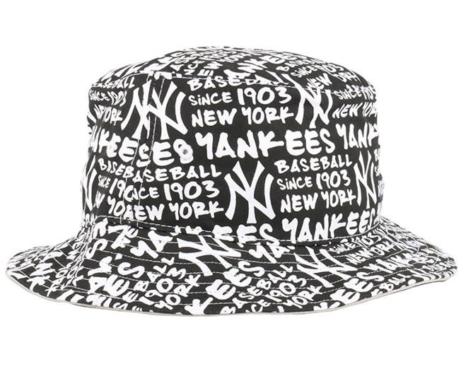NY Yankees Fat White Bucket - 47 Brand hats  8b2b3f72479d9