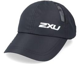 Run Cap Black/Black Dad Cap - 2XU