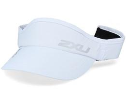 Run White/White Visor - 2XU
