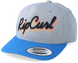 Kids Colorblock Curved Cement Marle/Blue Adjustable - Rip Curl