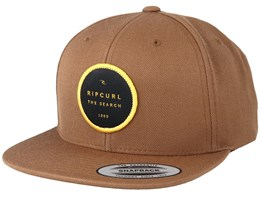 Valley Badge Coffee/Yellow Snapback - Rip Curl