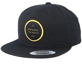 Valley Badge Black/Yellow Snapback - Rip Curl