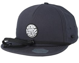 Wetty Surf Black Strapback - Rip Curl