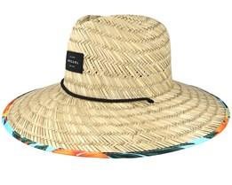 Yardage Straw/Multi Blue Straw Hat - Rip Curl