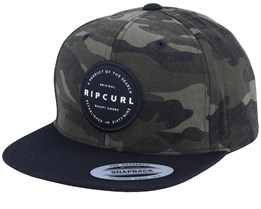 Kids Mission Badge Camo/Black Snapback - Rip Curl
