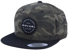 Mission Badge Camo Snapback - Rip Curl