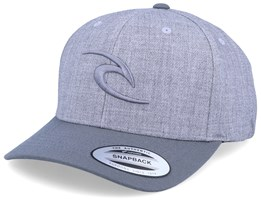 Tepan Curved Heather Grey/Grey Adjustable - Rip Curl