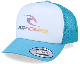 The Surfing Company White/Teal Trucker - Rip Curl
