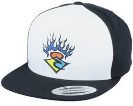 Kids Surf Sticker White/Black Snapback - Rip Curl