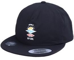 Kids Search Surf Black Snapback - Rip Curl