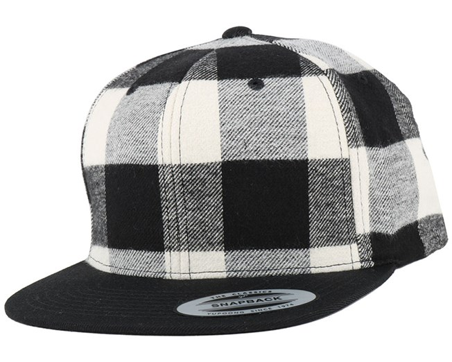 a804d7707 Checked Flanell Black/White Snapback - Yupoong caps   Hatstore.co.uk