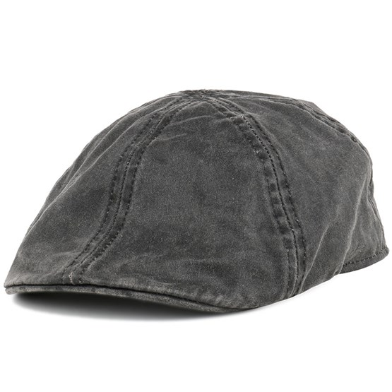 Level Co Pe Black Flat Cap - Stetson caps  9387c14749a